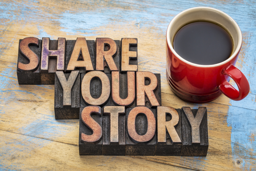 Share your story in English