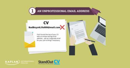 Tip 1: An unprofessional email