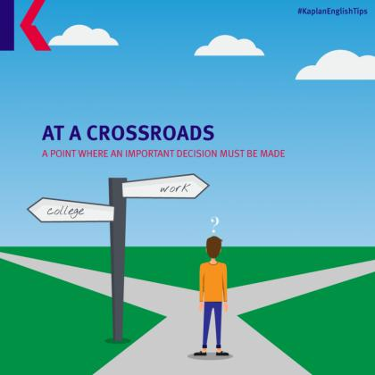 travel idioms – at a crossroads