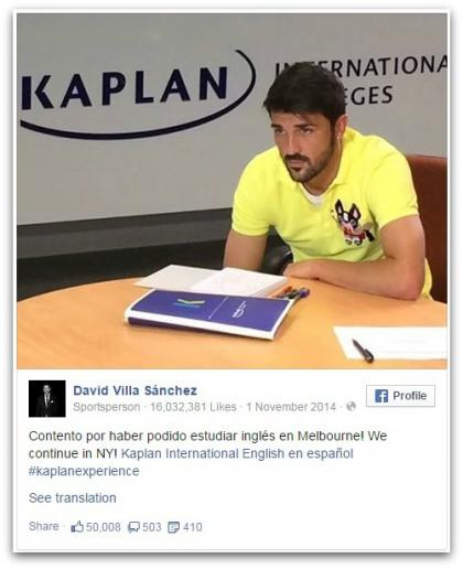 David Villa bei Kaplan in Melbourne
