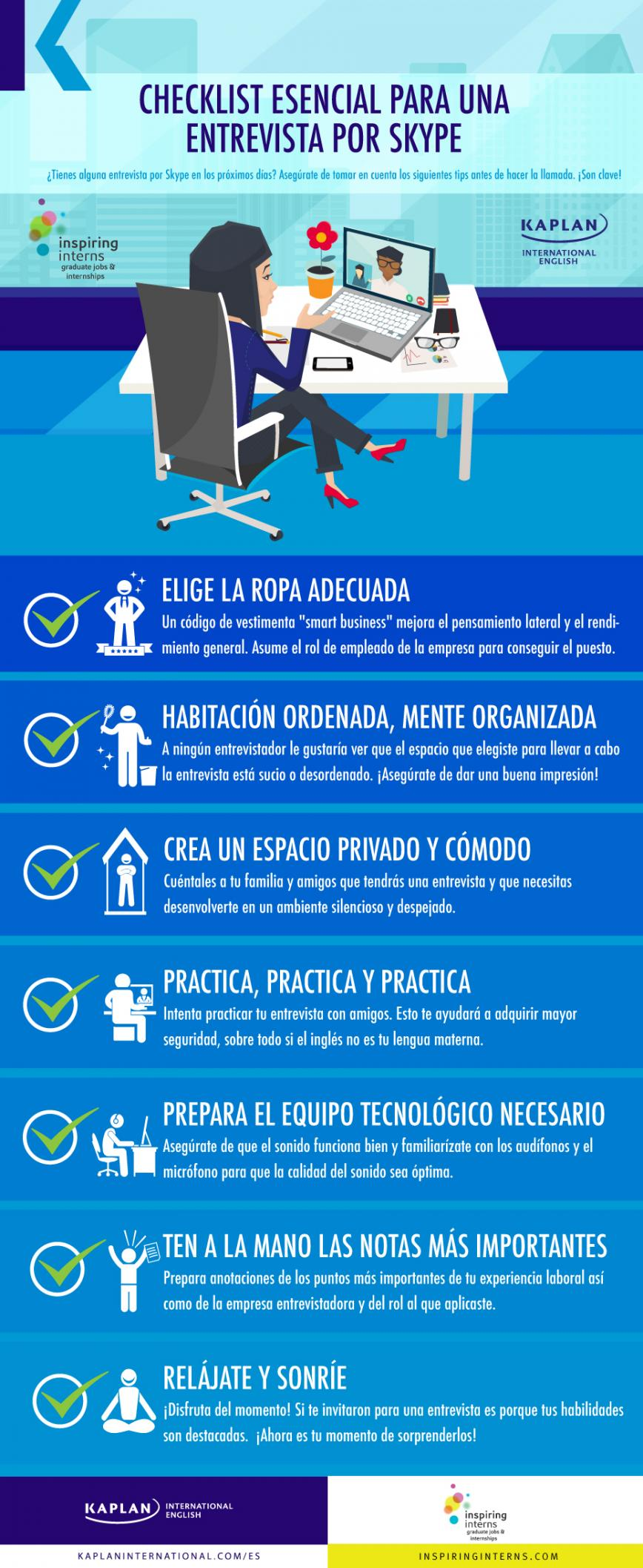 Kaplan International English – Skype infografía