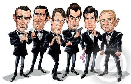 Bond caricatures