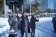 Kaplan International students exploring Toronto in the snow