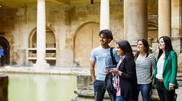 Kaplan students at the Roman Baths Museum