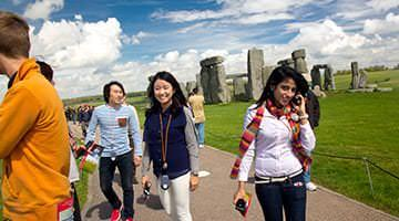 Kaplan students at Stonehenge