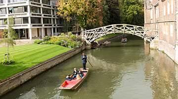 Punting in Cambridge on the River Cam