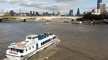 Boat cruise on River Thames London