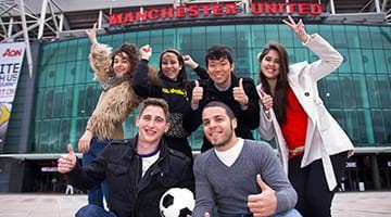 Kaplan students at Old Trafford Manchester