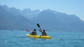 students enjoying water sports at Alpadia Montreux