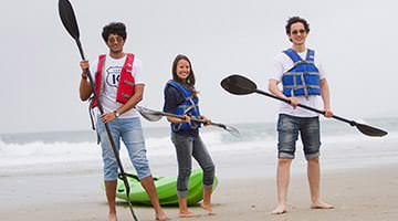 Kaplan students kayaking in San Diego
