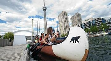 Kaplan students canoeing in Canada
