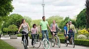 Kaplan students explore Toronto on bike