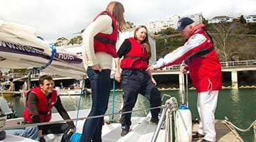 Kaplan students sailing in Torquay, Devon