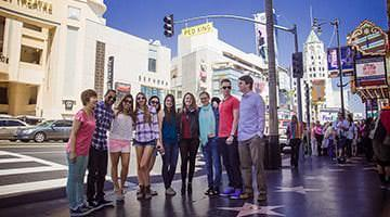 Kaplan students at the Hollywood Walk of Fame