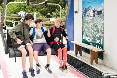 Alpadia Engelberg Summer Course ski lift in mountains