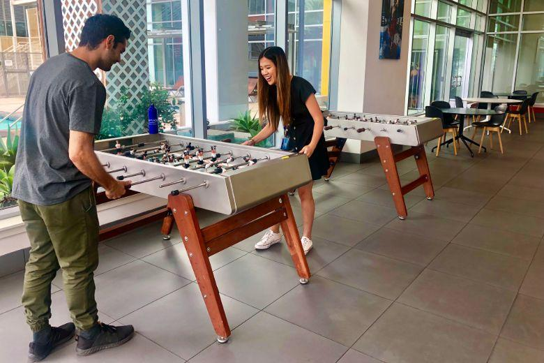 Pinnacle on the Park: table football
