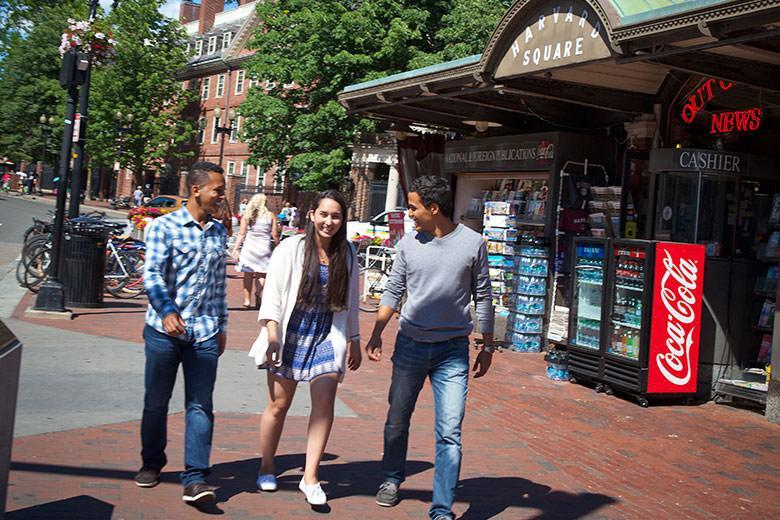 Kaplan students in Harvard Square
