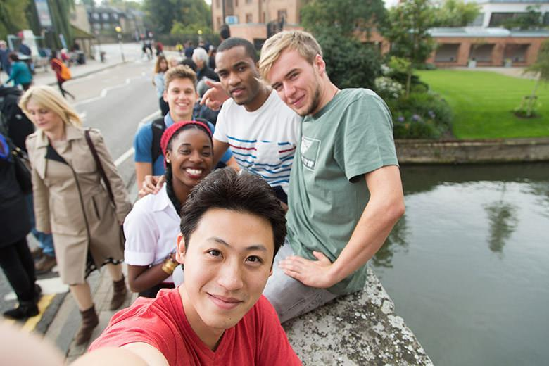 International students in Cambridge
