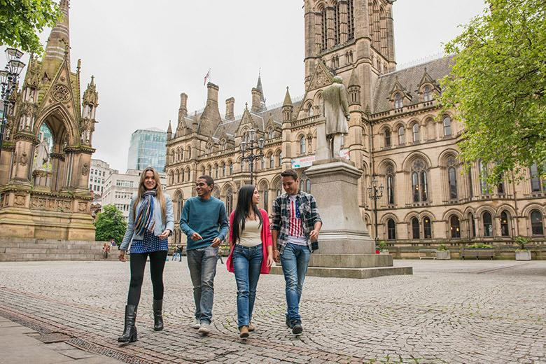Students exploring Manchester