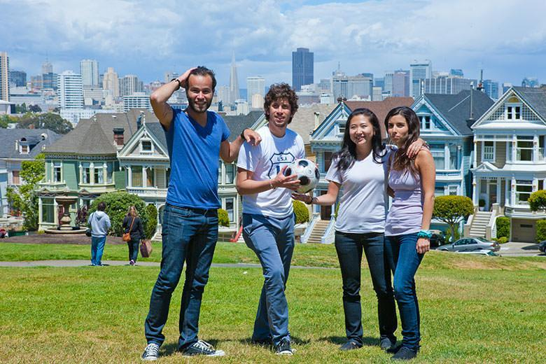 Kaplan students during social activities in San Francisco