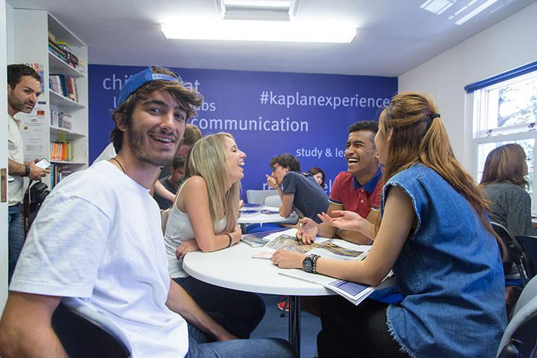Students in classroom at Kaplan Torquay English school