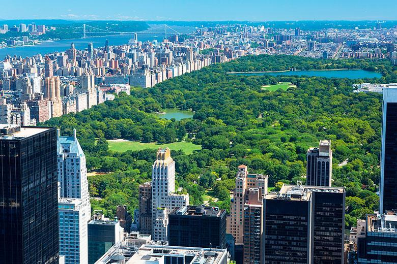 Bird's-eye view of Central Park