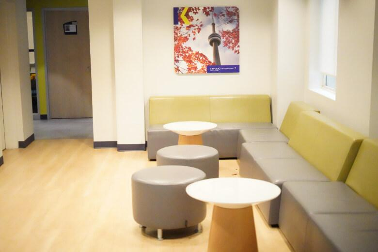 student lounge at Kaplan International Languages Toronto