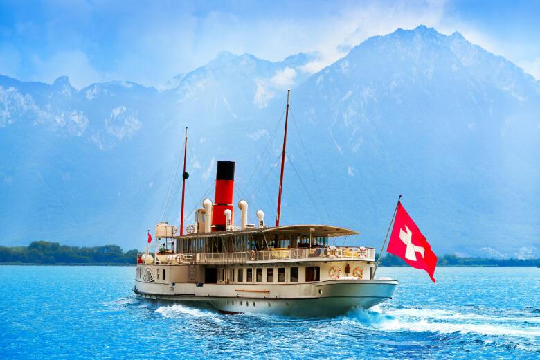 Alpadia Montreux English school, take a trip on a steam boat